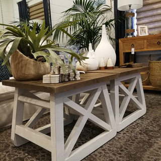Solid Recycled Pine Side Table-12210
