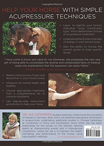 Acupressure for horses back cover