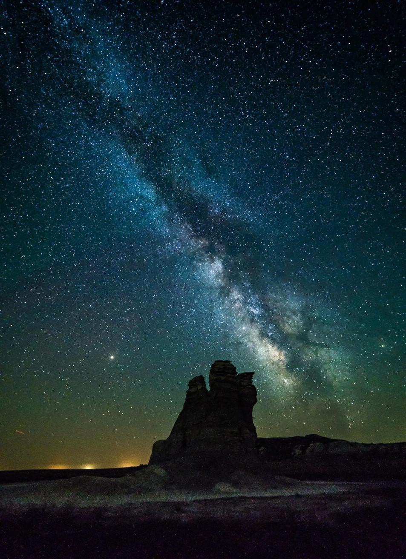 Milky Way over Castle Rock