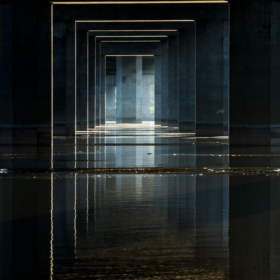 Under Clark Bridge