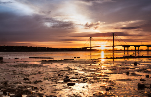 Sunrise at Clark Bridge