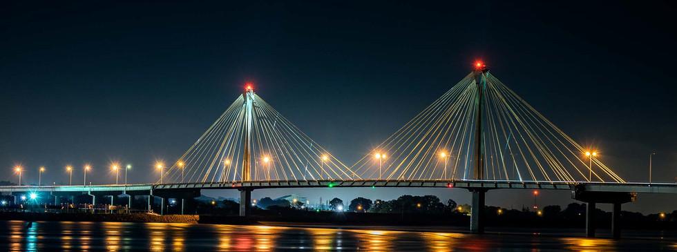 Clark Bridge at Night