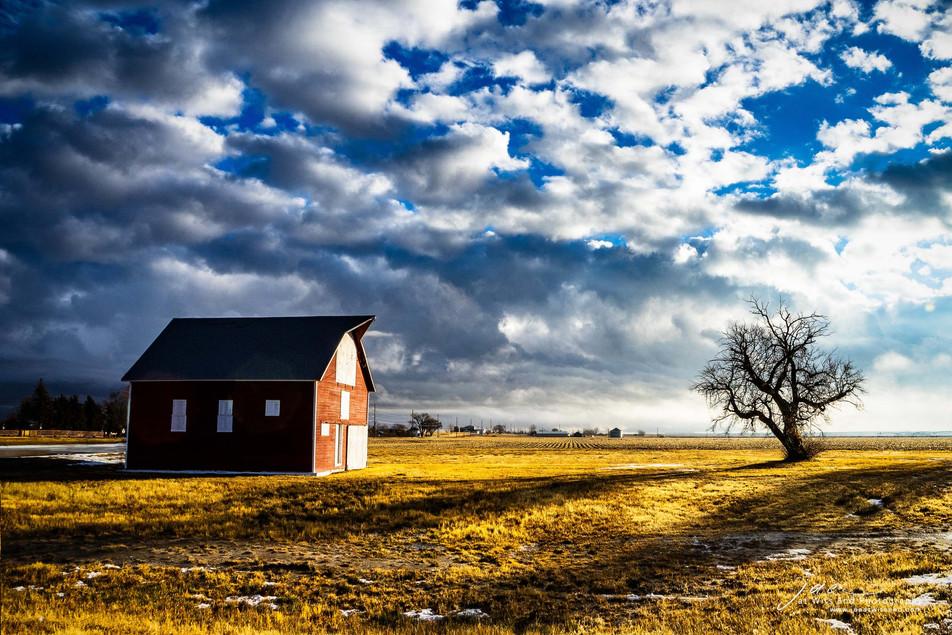 Barn Between Storms