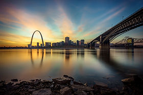 Sunset at East St Louis Waterfront-1352-