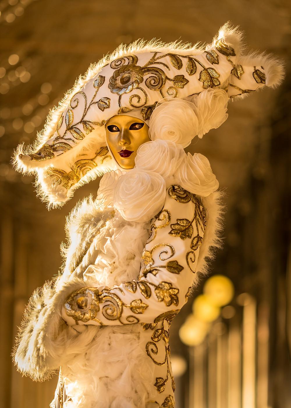 Photo venetian woman mask