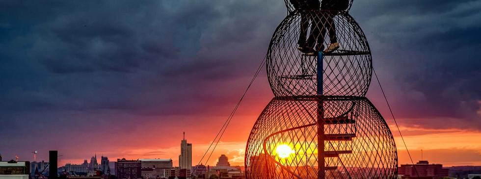 Sunset on the City from City Museum