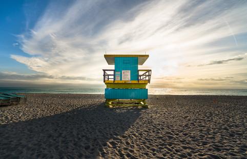 Miami Beach Lifeguard Tower - Sunflare