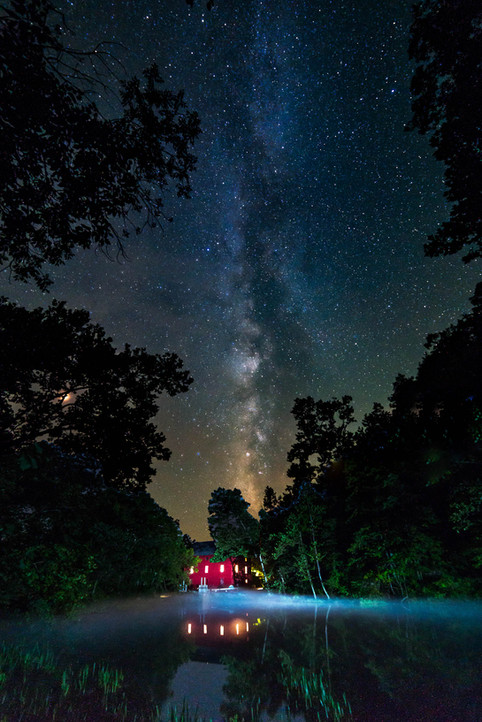 Alley Springs Mill Milky Way
