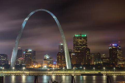 Arch on a Foggy Night