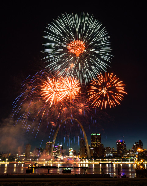 Fireworks at the Arch