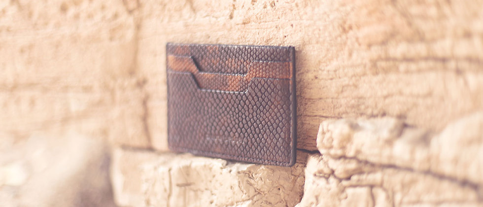 CANYON CROSBY // Drift Wood Brown Slim Card Case