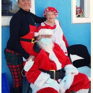 Mr & Mrs Santa Claus and Elf Kathy