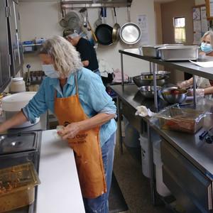 Tuesday Kitchen Crew (Eileen, HR Treasurer & Tuesday Lead Cook) (Rick, HR President & Tuesday Kitchen Crew) (Liz, Tuesday Kitchen Crew)
