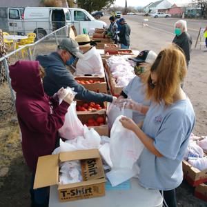 Food box distribution