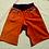 Thumbnail: Short Homme velours orange et Wax