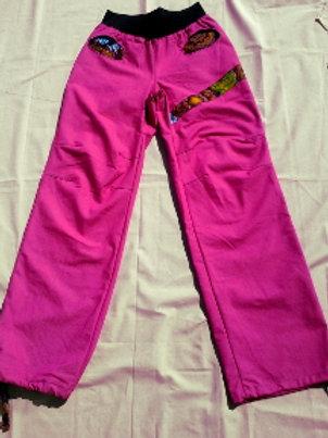 Jean femme stretch rose fushia et Wax taille S