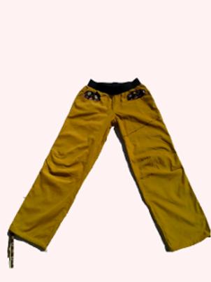 Pantalon Homme velours curry et Wax Taille S
