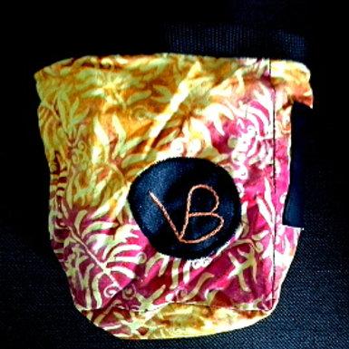 sac à magnésie tissu fleuri