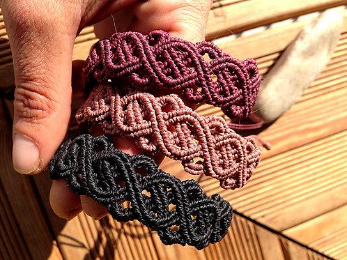 Bracelet macramé celtique large