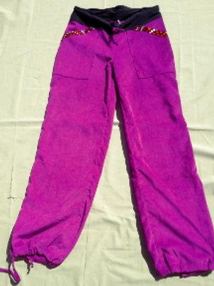 Pantalon Femme en velours stretch et wax taille M