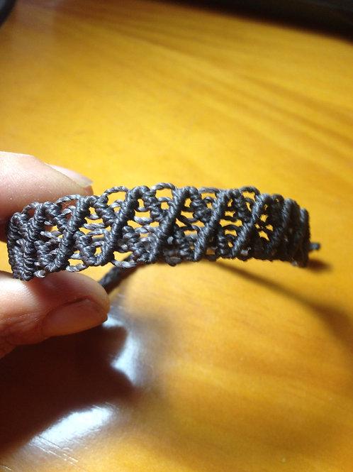 Bracelet macramé losanges