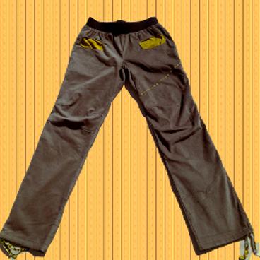 Pantalon homme en velours beige et curry Taille L