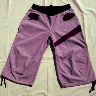 Pantacourt Femme en coton rose pâle Taille M