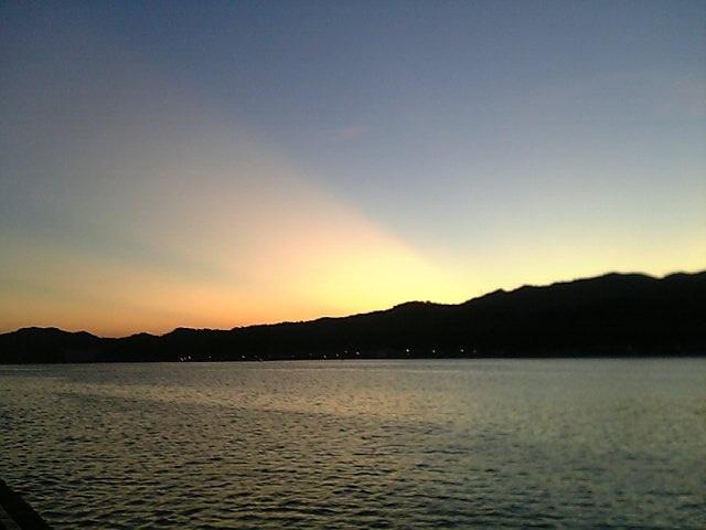 境水道夕焼け