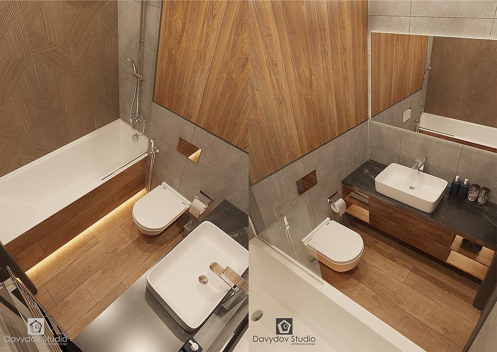Дизайн интерьера ванной комнаты Давыдов