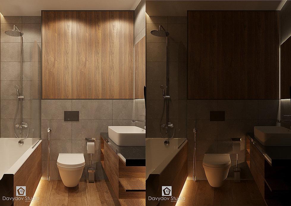 Дизайн интерьера ванной комнаты Davydov