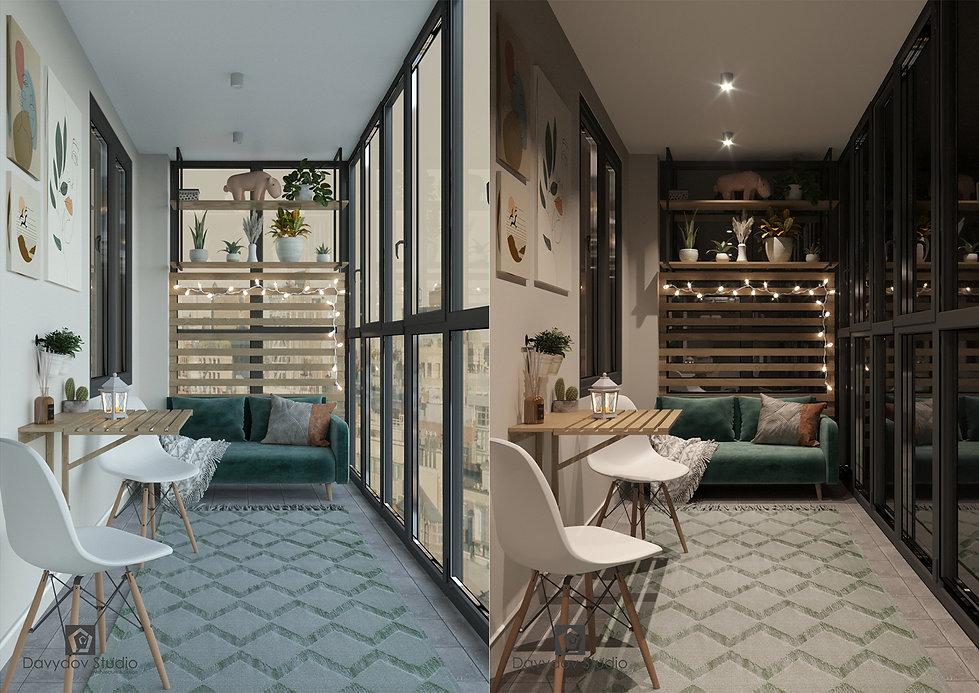 Дизайн интерьера балкона davydov studio.