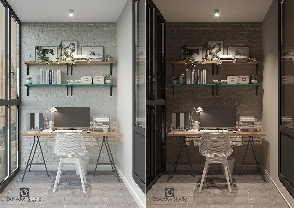 Дизайн интерьера балкона davydov studio