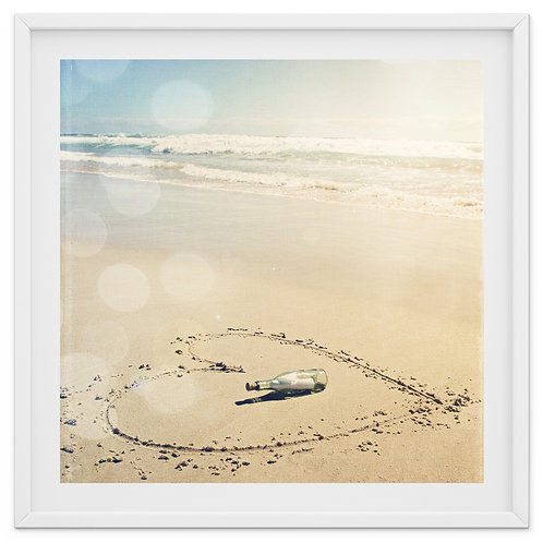 Message in a Bottle - beach print or canvas wrap