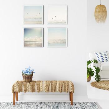 Pale Blue Seagulls set