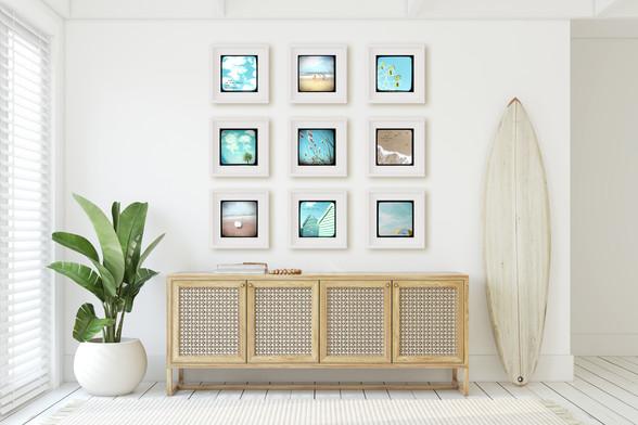 Set of 9 vintage inspired TTV beach & coastal prints