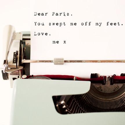 dear paris you swept me off my feet