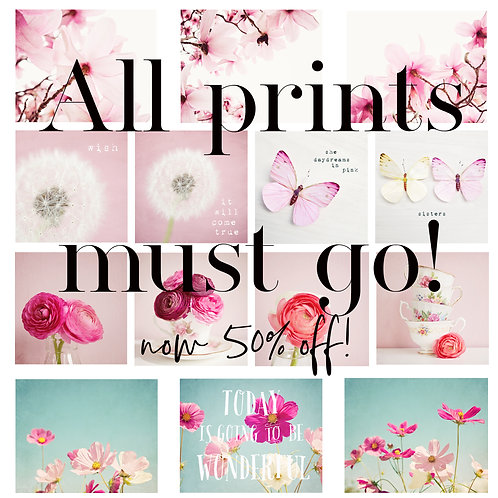 Selection of Floral prints in stock and ready to ship