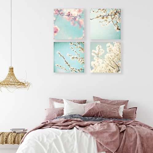 Spring Blossoms - set of 4 photo prints, canvas wraps or wood blocks