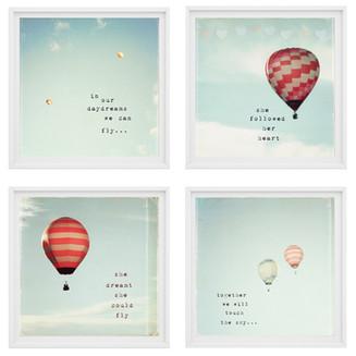 Hot Air Balloon set of 4 prints