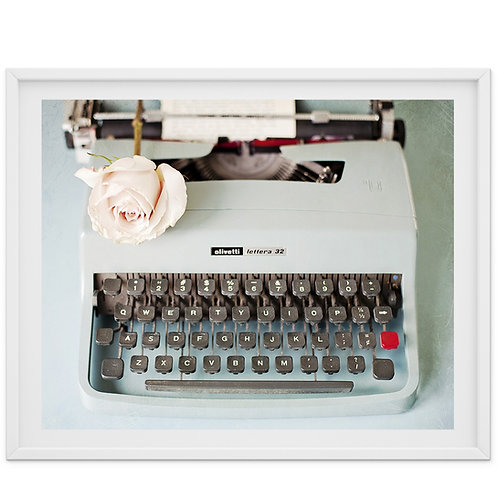 Her Greatest Love Story - typewriter print or canvas wrap