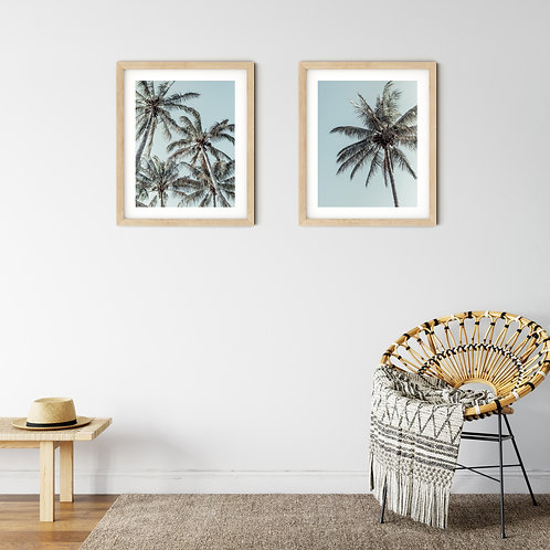 Palm tree print set - Solitary & Unity
