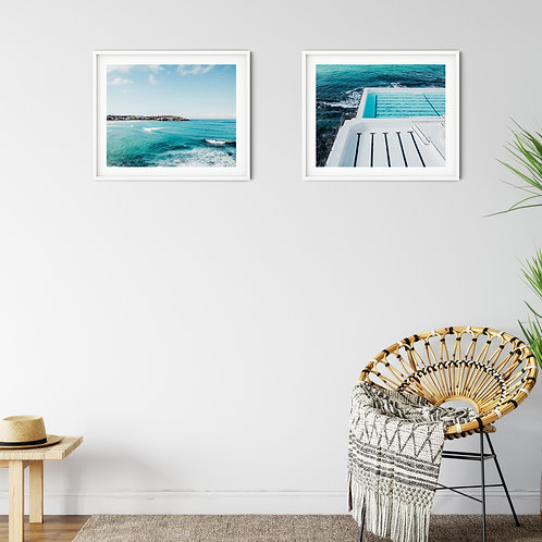 'Bondi Surfers' and 'At the Sea Wall' set of 2 prints or canvas wraps