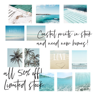 Coastal prints on sale, in stock and shipping free worldwide