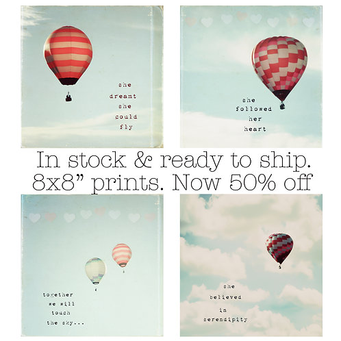 Selection of Hot Air Balloon prints in stock and ready to ship