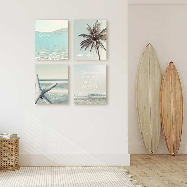 The Dive in series set of 4  large canva
