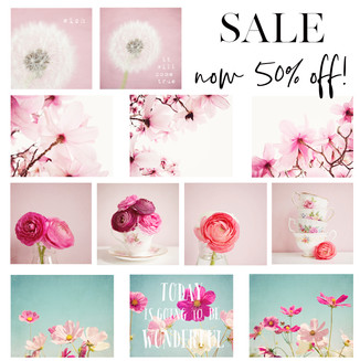 Selection of floral prints on sale, in stock and shipping free worldwide