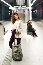 Beautiful young arabic woman waiting her