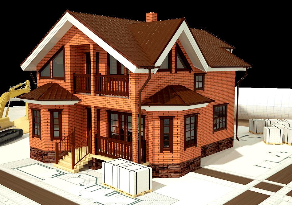 сколько построить дом кирпич