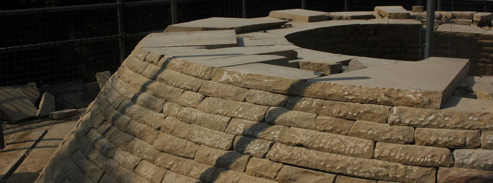 Corbelled roof in costruction