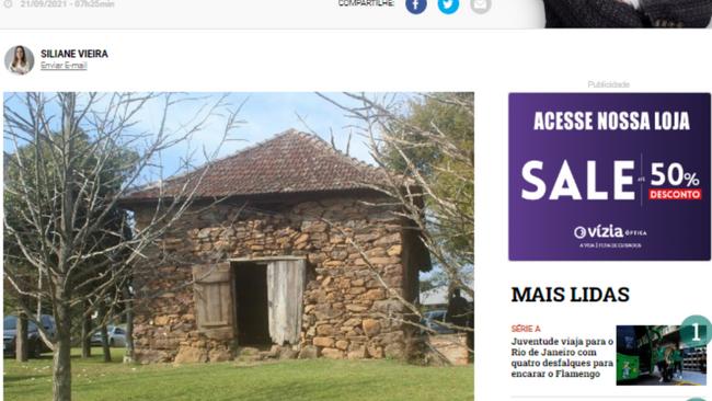 Casa de pedra histórica de Garibaldi vai ganhar memorial e osteria